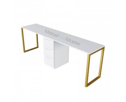 Маникюрный стол на два Мастера серия «GOLD» G-4.1