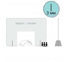Защитный экран для маникюрного стола прозрачный C - 1.3