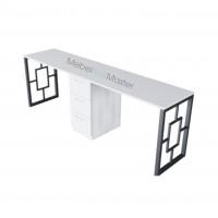 Маникюрный стол на 2 мастера серия «BLACK» В-4.3