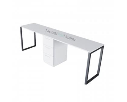 Маникюрный стол на 2 мастера серия «BLACK» В-4.1