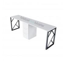 Маникюрный стол на 2 мастера серия «BLACK» В-4.2