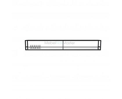Универсальная полка для лаков металл (цвет чёрный матовый)  серия  «Loft - Nail» LN-14