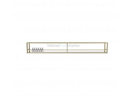 Универсальная полка для лаков металл матовое золото (цвет латунь)  серия  «Loft - Nail» LN-13