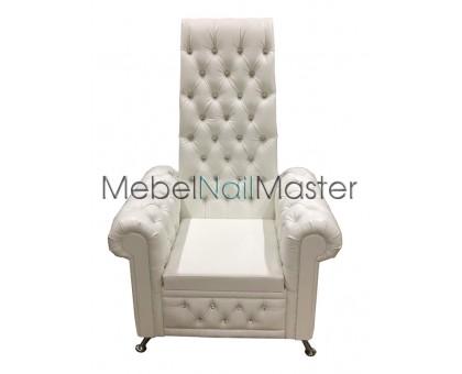 Кресло-трон PKR-102 белый