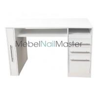 """MS-116 Маникюрный стол с вертикальным ящиком серия """"Проф"""""""
