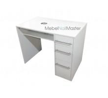 """Маникюрный стол для одного мастера с прямой вытяжкой серия """"Проф"""" MS-104"""
